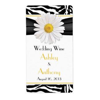 Etiquetas de la botella de vino del boda del estam etiquetas de envío