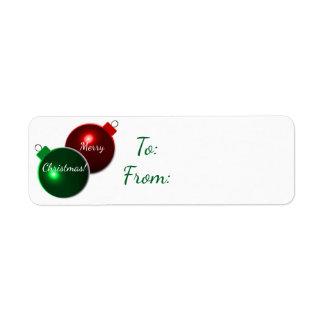 Etiquetas de la etiqueta del regalo de las bolas etiqueta de remitente