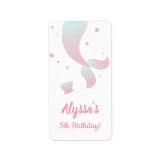 Etiquetas de la fiesta de cumpleaños de los chicas