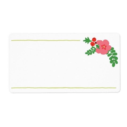 Etiquetas de la flora del navidad