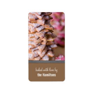 Etiquetas de la repostería y pastelería del etiqueta de dirección