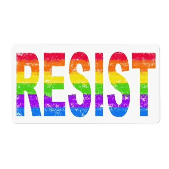 Etiquetas de la resistencia del orgullo del arco etiquetas de envío