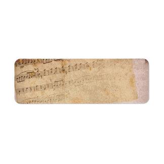 Etiquetas de las notas musicales etiqueta de remite