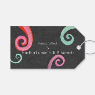Etiquetas de los artes de la fibra etiquetas para regalos