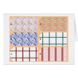 Etiquetas de los regalos en una tarjeta 2