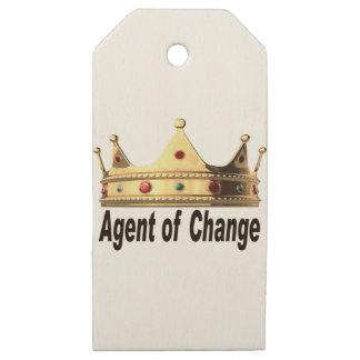 Etiquetas De Madera Para Regalos Agente del cambio