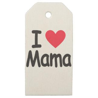 Etiquetas De Madera Para Regalos Amo a la mama, mamá, madre
