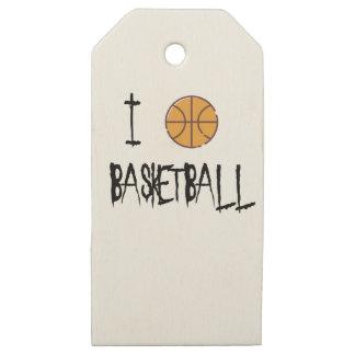 Etiquetas De Madera Para Regalos Amo baloncesto