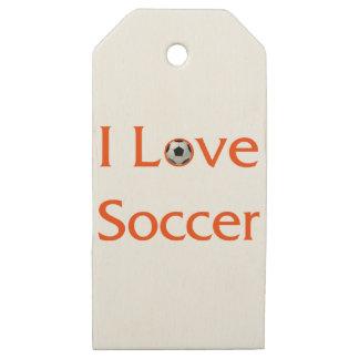 Etiquetas De Madera Para Regalos Amo fútbol