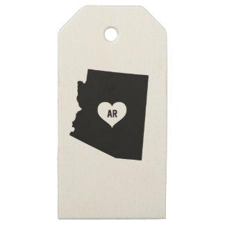 Etiquetas De Madera Para Regalos Amor de Arizona