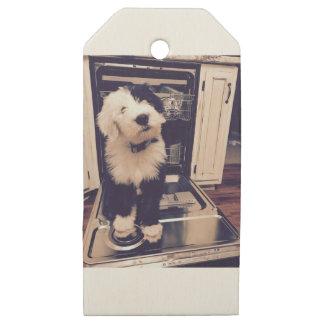 Etiquetas De Madera Para Regalos Amor del perro pastor