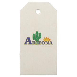 Etiquetas De Madera Para Regalos Arizona azul