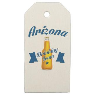 Etiquetas De Madera Para Regalos Arizona que bebe al equipo