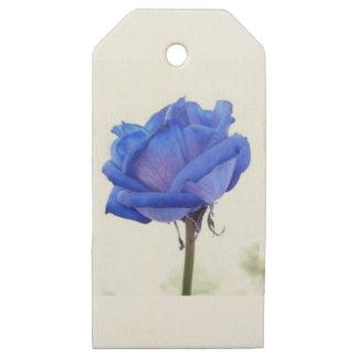 Etiquetas De Madera Para Regalos azul-rosa