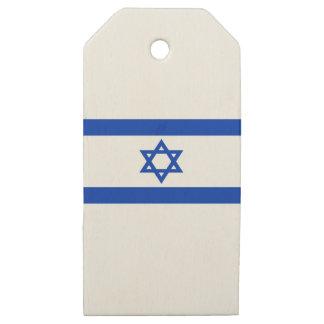 Etiquetas De Madera Para Regalos ¡Bajo costo! Bandera de Israel