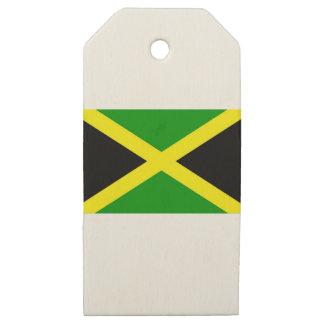 Etiquetas De Madera Para Regalos ¡Bajo costo! Bandera de Jamaica