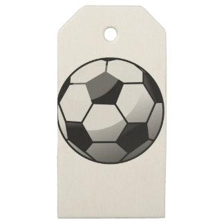Etiquetas De Madera Para Regalos Balón de fútbol