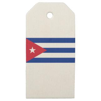 Etiquetas De Madera Para Regalos Bandera cubana - Bandera Cubana - bandera de Cuba