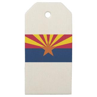 Etiquetas De Madera Para Regalos Bandera de Arizona