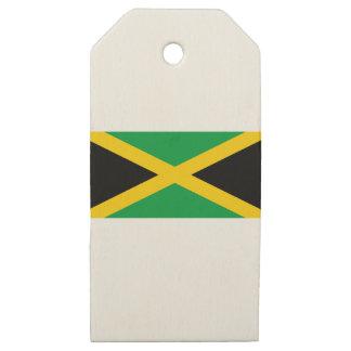 Etiquetas De Madera Para Regalos Bandera jamaicana
