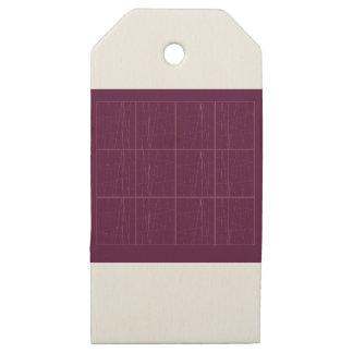 Etiquetas De Madera Para Regalos Bloques del chocolate del ethno del diseño