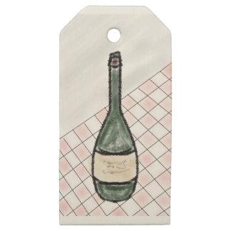Etiquetas De Madera Para Regalos Botella de vino