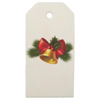 Etiquetas De Madera Para Regalos Campana de navidad
