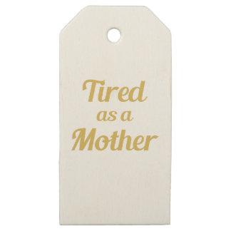 Etiquetas De Madera Para Regalos Cansado como madre