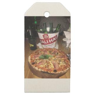 Etiquetas De Madera Para Regalos Cerveza y pizza de Bali