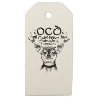 Etiquetas De Madera Para Regalos Chihuahua obsesiva de OCD