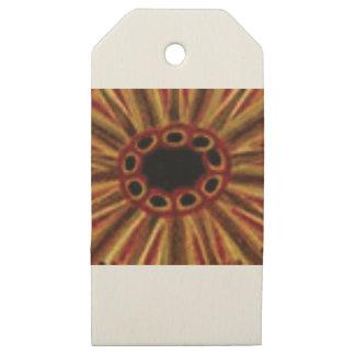 Etiquetas De Madera Para Regalos círculos de centro del agujero