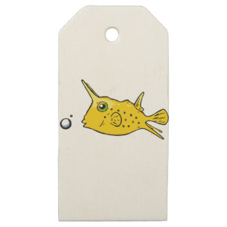 Etiquetas De Madera Para Regalos Cowfish del fonolocalizador de bocinas grandes