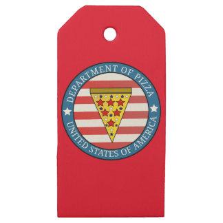 Etiquetas De Madera Para Regalos Departamento de pizza