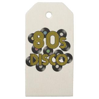 Etiquetas De Madera Para Regalos discos de vinilo del disco 80s