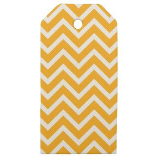 Etiquetas De Madera Para Regalos diseño blanco anaranjado del modelo de zigzag