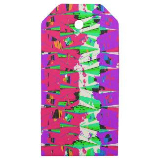 Etiquetas De Madera Para Regalos Diseño colorido del modelo de la interferencia