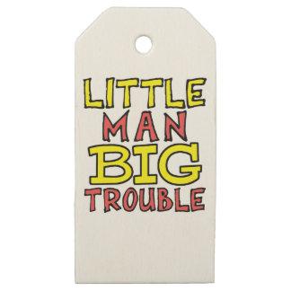 Etiquetas De Madera Para Regalos Diseño grande del niño del problema del pequeño