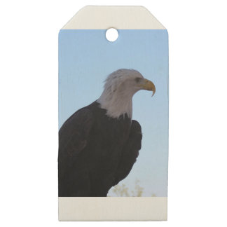 Etiquetas De Madera Para Regalos Eagle calvo