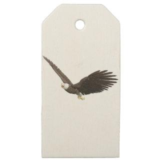 Etiquetas De Madera Para Regalos Eagle calvo altísimo