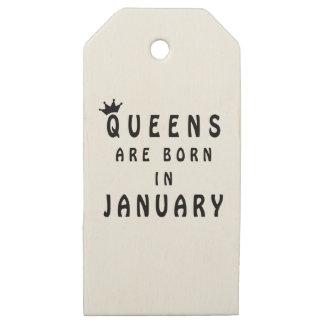 Etiquetas De Madera Para Regalos El Queens nace en enero