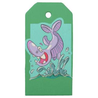 Etiquetas De Madera Para Regalos embalaje del tiburón