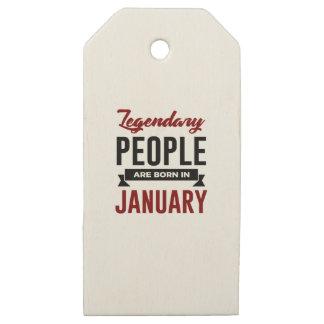 Etiquetas De Madera Para Regalos En enero cumpleaños llevado legendario de los