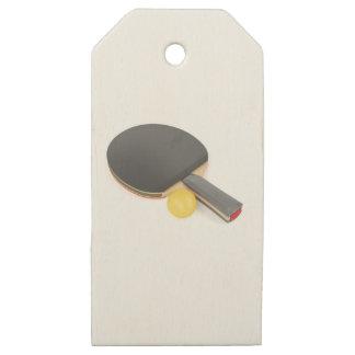 Etiquetas De Madera Para Regalos Estafa y bola de tenis de mesa