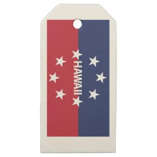 Etiquetas De Madera Para Regalos Estándar del gobernador de Hawaiʻi