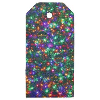 Etiquetas De Madera Para Regalos Estrellas chispeantes del navidad