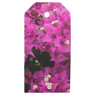 Etiquetas De Madera Para Regalos Fondo fucsia púrpura del Bougainvillea