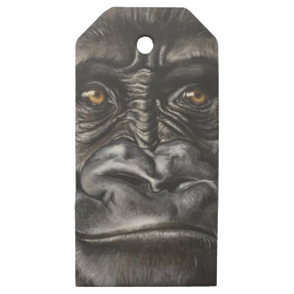 Etiquetas De Madera Para Regalos Gorila