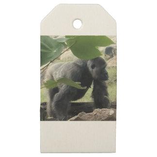Etiquetas De Madera Para Regalos Gorila del Silverback