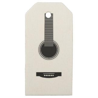 Etiquetas De Madera Para Regalos Guitarra