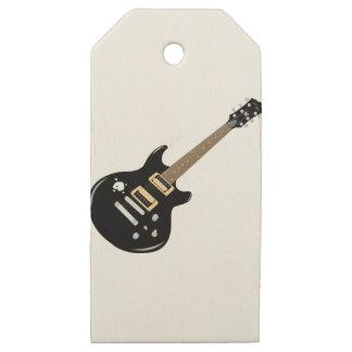 Etiquetas De Madera Para Regalos Guitarra eléctrica